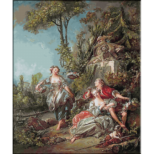 1755.Boucher - Indragostiti in parc