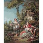 1755.goblen_Boucher - Indragostiti in parc