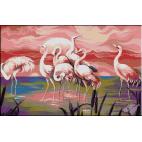 290. Triptic flamingo