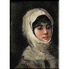 1781.N.Grigorescu - Fata cu voal alb
