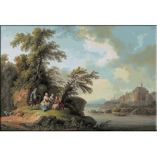 1785.Jacob Philipp Hackert - Odihna pe malul raului