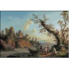 1788.Jacob Philipp Hackert - Castelul de pe deal